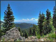 Vista with Pilot Rock and Boulders