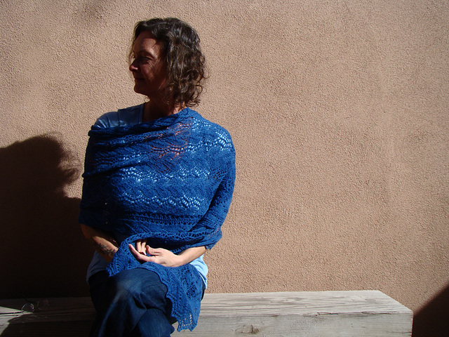Mascha's Print O' the Wave shawl