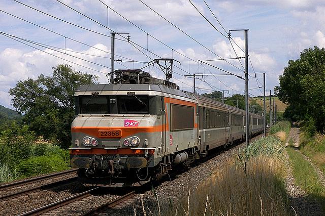 BB 22358 vers Bourgoin