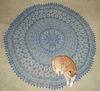 blue lace shawl
