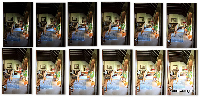 The full 12 Exposures for the HDR Image