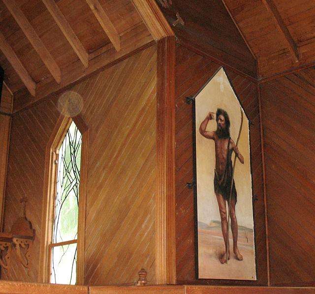 """""""John the Baptist"""" fresco"""