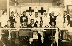 Sailors and Nurses with Masks in a Hospital Ward, San Diego, California, 1919