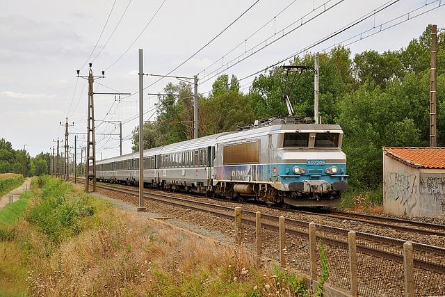 BB 7205 sur la transversale pyrénéenne