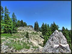 Peak and Boulder