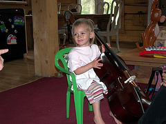Her first cello, one eighth size