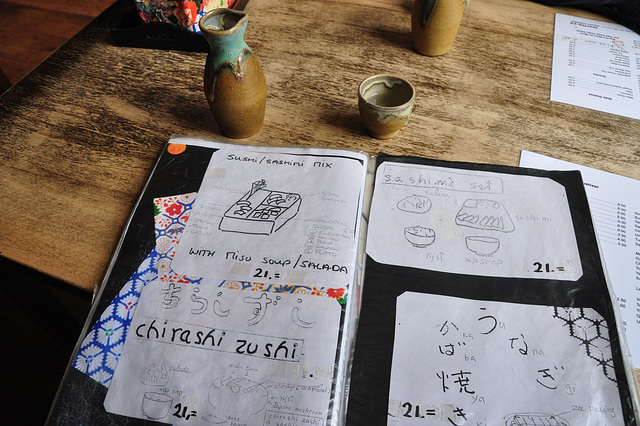 Menu of Japanese restaurant Morita-Ya