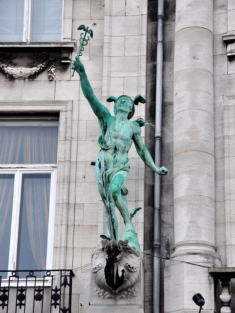 Statue of Hermes in Antwerp