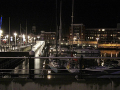 Night time in Gunwharf Quays, Portsmouth
