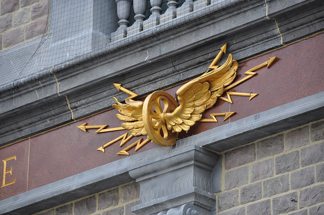 Ornament on Antwerp Central Station