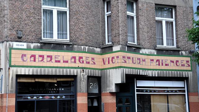 Old tile work in Antwerp