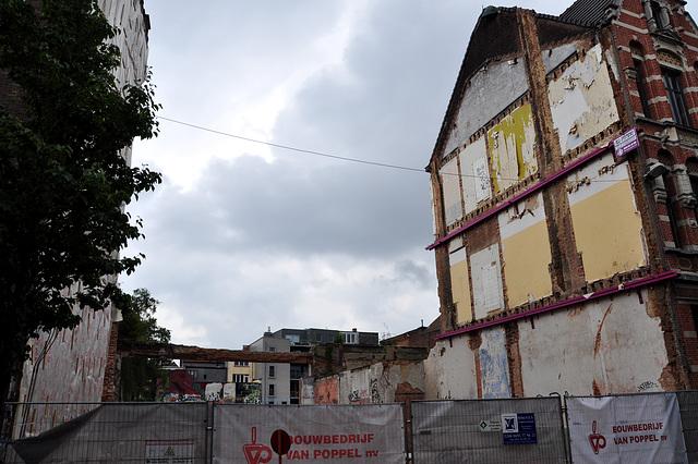 Demolished building in Antwerp