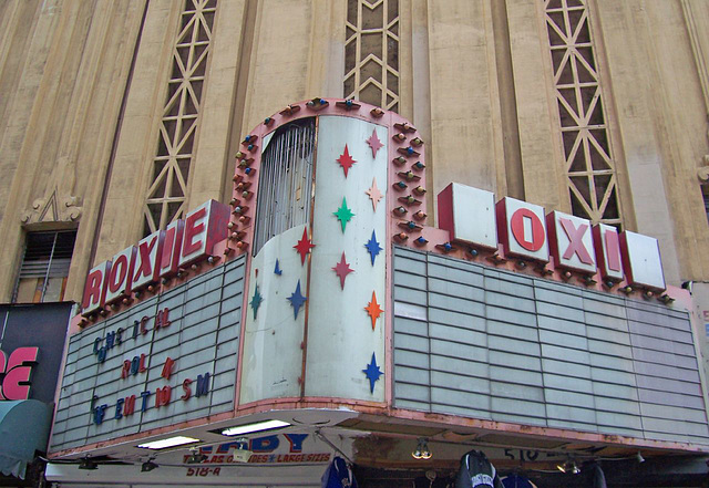 old Roxie Theatre marquee