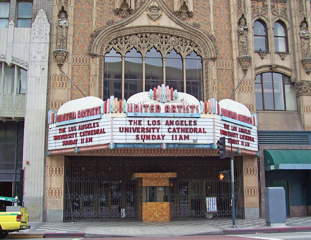 United Artists Theatre Marquee/Los Angeles University Cathedral