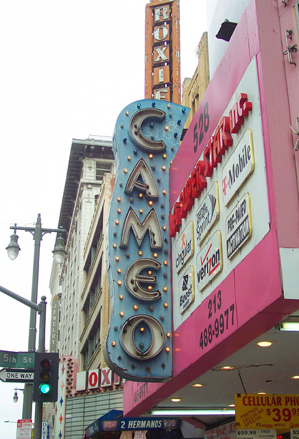 Cameo Theatre sign (and Roxie above/behind)