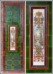 Tiles in the doorway
