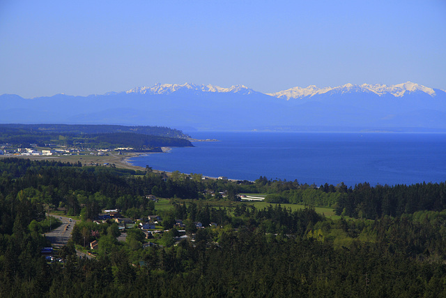 Whidbey Island, the Olympic Mountains and the Straits of Juan de Fuca