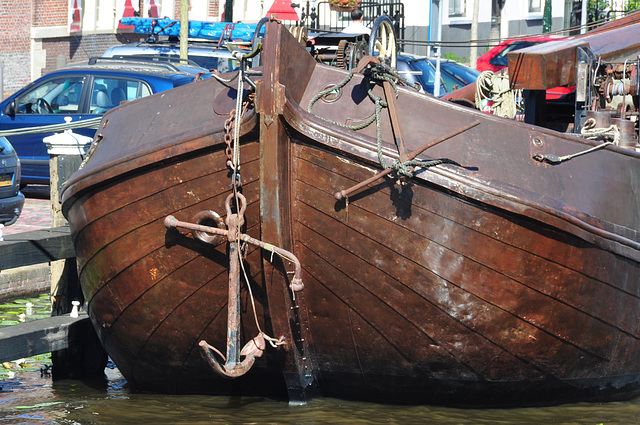 Old ship in the harbour of Leiden