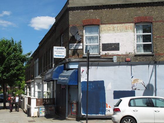 Closed corner shop