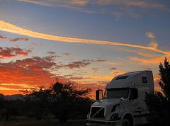 Chemtrail over Fort Huachuca, Arizona