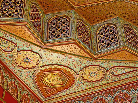 Ceiling of the Jnan Palace Hotel, Fez