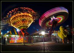 Carnival Rides and Fair Mascot Duck
