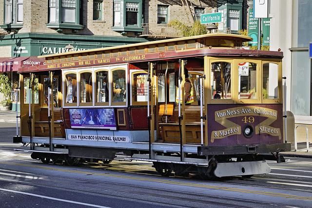 The Iconic Cable Car Shot – California Street at Polk, San Francisco, California