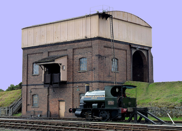 Saddle Tank Engine and Coaling Tower