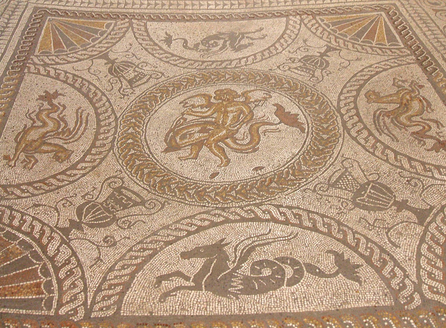 Mosaic - Cupid on Dolphin