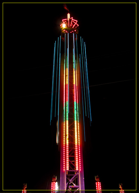 Gravity Blaster at Night