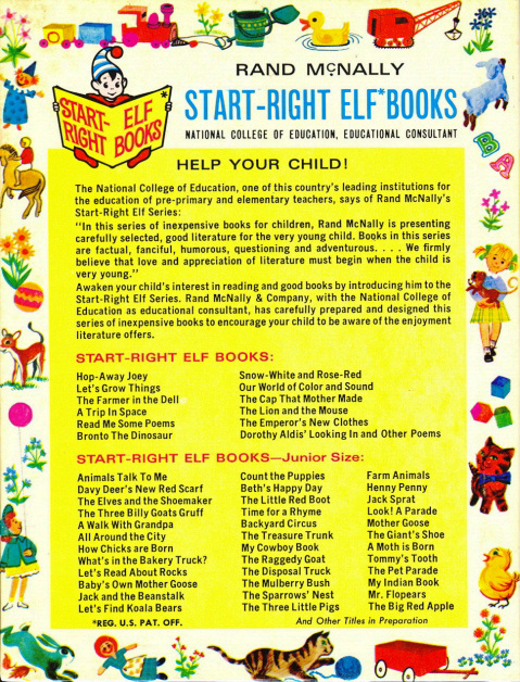 Start-right elf books back cover