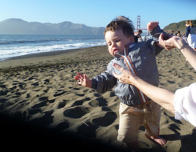 Not Quite Enjoying the Sand Thing Yet