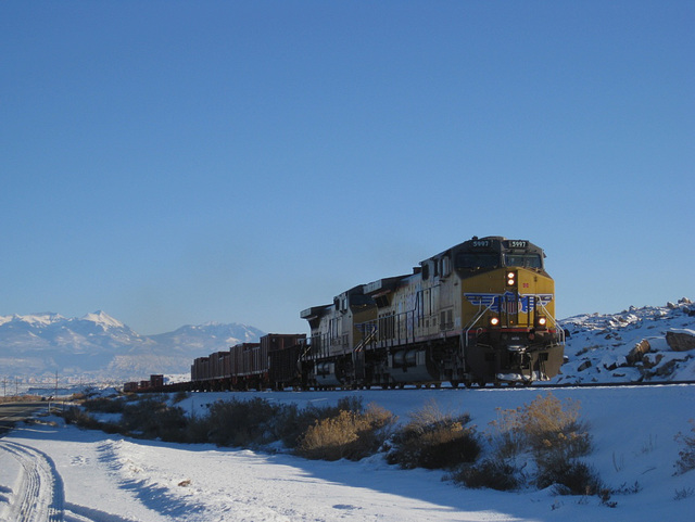 Moab UP uranium train, potash spur 1822a