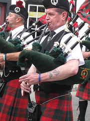 Pipers Parading in Sanquhar