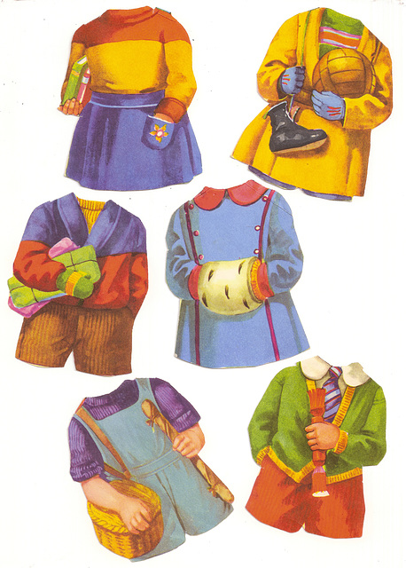 Ugly Clothes of the Disliked Paper Dolls