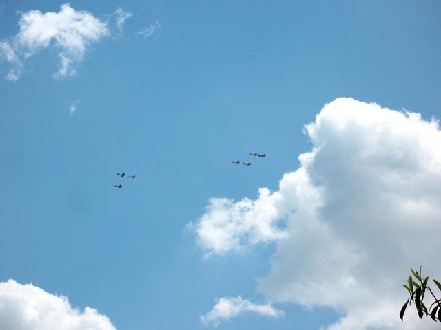 Overhead...