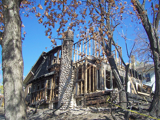 3 weeks after arson fire