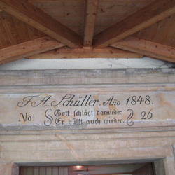 Oybin - Eingang Teufelsmühle anno 1848