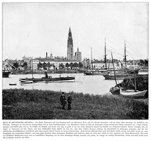 Antwerp around 1900