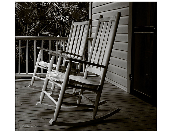 Rocking Chairs in Warm Black and White