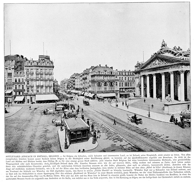 Boulevard Anspach in Brussels around 1900