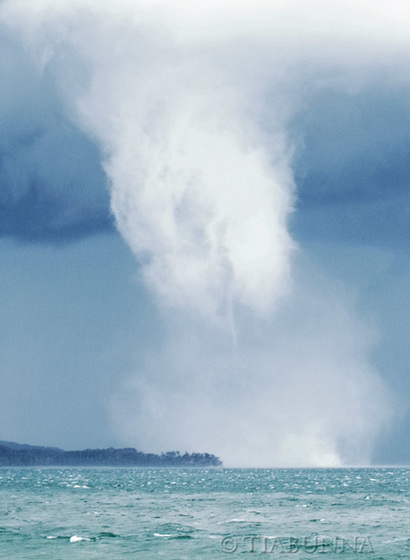 Dissipating waterspout