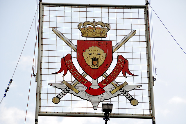Vogelsang IP – Coat of arms of the Belgian army force that was stationed here