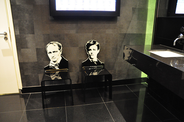 Baudelaire and Rimbaud chairs