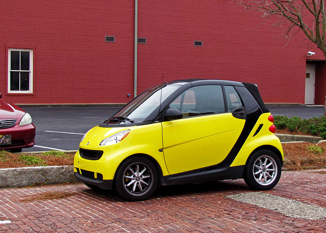 Yellow Smart Car