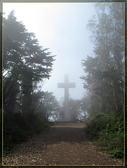 Mt. Davidson Cross Disappearing into the Fog
