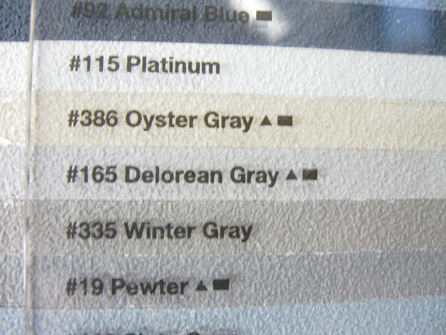 The Picture of Delorean Gray Grout