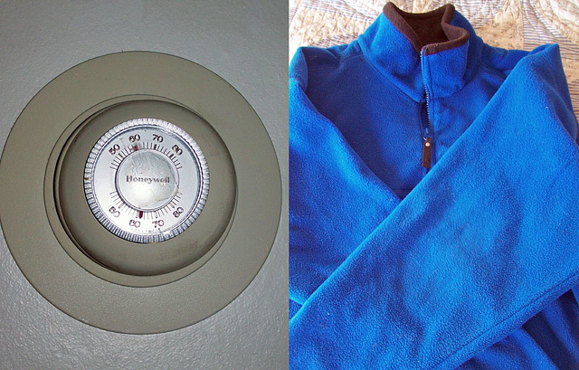 Earth day challenge #5: keep thermostat low, grab a jacket