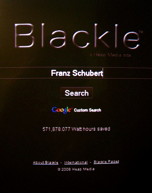 Earth day challenge #4: Blackle instead of Google