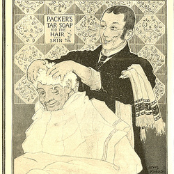 1897 Packer's Tar soap ad